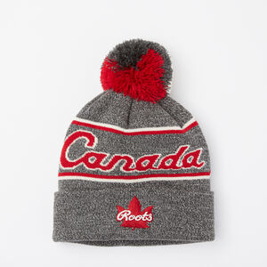 Roots-Men Canada Collection By Roots™-Canada Heritage Pom Pom Toque-Salt & Pepper-A