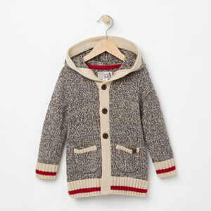 Roots-Kids Toddler Girls-Toddler Roots Cabin Hooded Cardigan-Grey Oat Mix-A