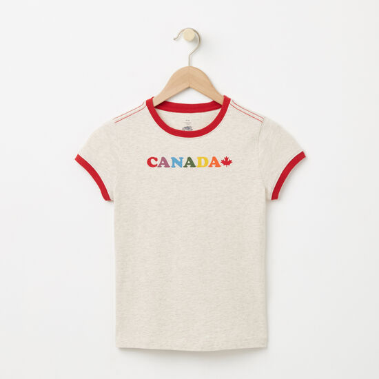 Girls Maple Canada Ringer T-shirt