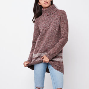 Roots-Women Sweaters & Cardigans-Alpine Turtleneck Sweater-Lodge Red Mix-A