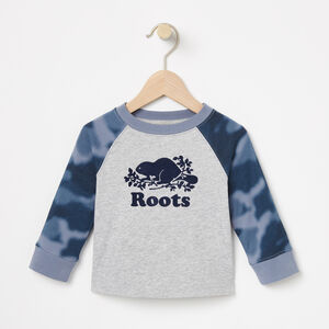 Roots-Kids Baby Boy-Baby Blurred Camo Top-Grey Mix-A