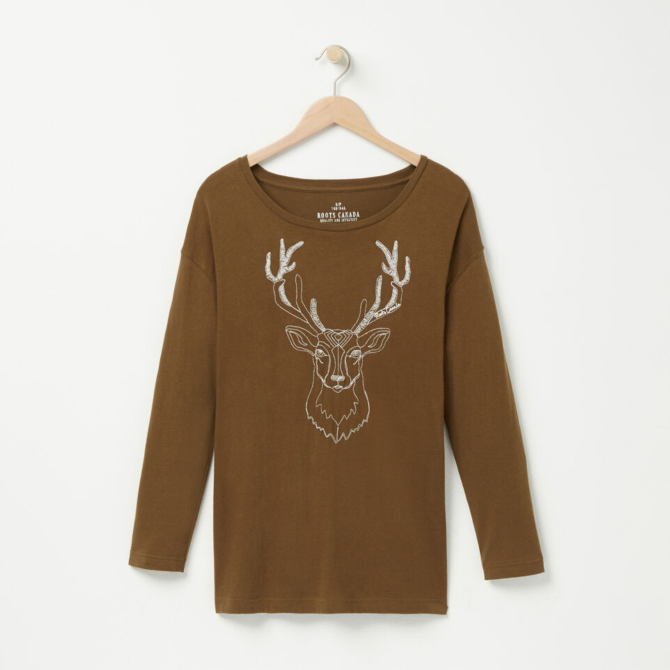 Roots-undefined-White Tail Deer T-shirt-undefined-A