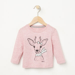 Roots-Kids Baby-Baby Woodland Critters T-shirt-Zephyr Mix-A