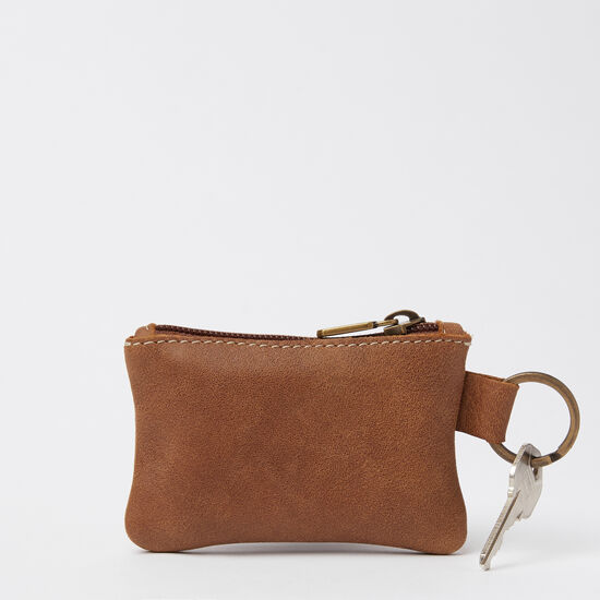 Roots-Leather Leather Pouches-Top Zip Key Pouch Tribe-Africa-A