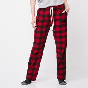Roots-Women Plaids-Elisa Lounge Pant-Lodge Red-A