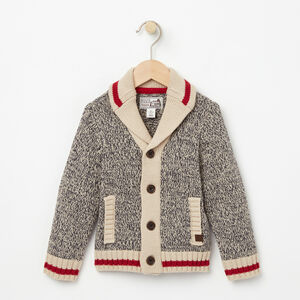 Roots-Gifts For Kids-Toddler Roots Cabin Shawl Cardigan-Grey Oat Mix-A