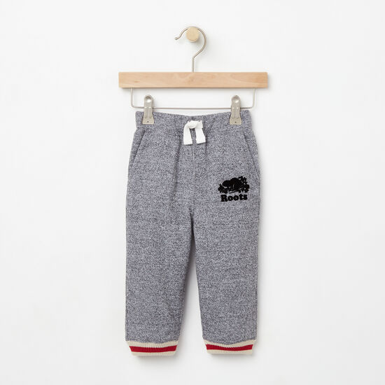 Roots-Kids New Arrivals-Baby Roots Cabin Sweatpant-Salt & Pepper-A