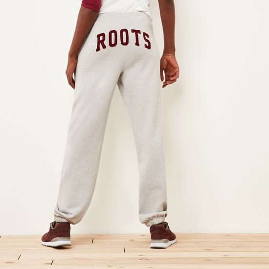 Roots-Women Boyfriend Sweatpants-Roots Boyfriend Sweatpant-Snowy Ice Pepper-A
