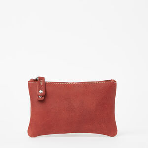 Roots-Leather Leather Accessories-Medium Zip Pouch Tribe-Paprika-A