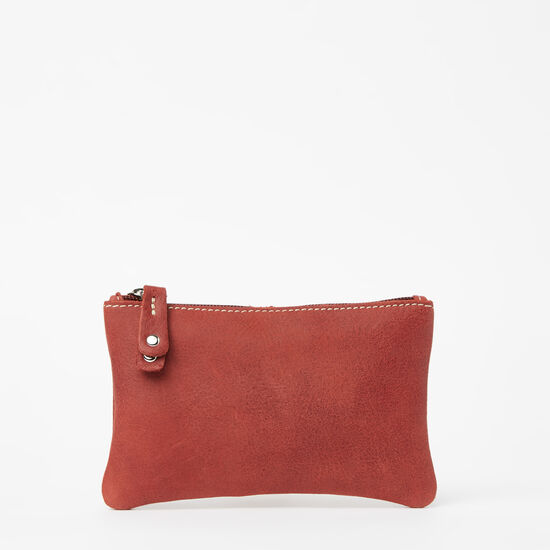 Roots-Leather Leather Pouches-Medium Zip Pouch Tribe-Paprika-A