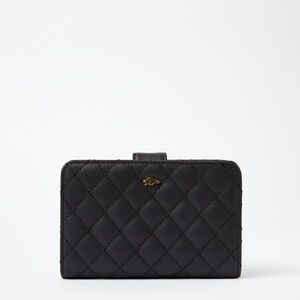 Roots-Leather New Arrivals-Bridget Wallet Quilted-Black-A