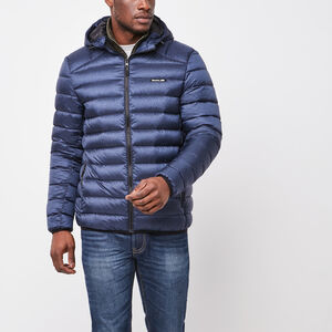 Roots-Men Jackets-Roots Packable Down Jacket-Navy Blazer Pepper-A