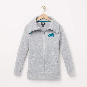 Roots-Kids Outerwear-Girls Lilly Jacket-Grey Mix-A