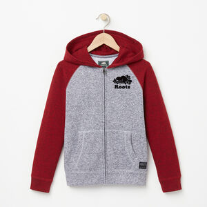 Roots-Kids Sweats-Boys Contrast Full Zip Hoody-Lodge Red Pepper-A