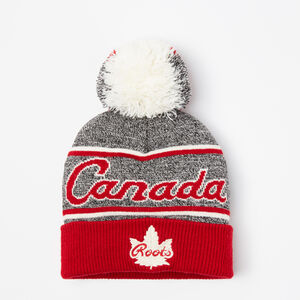Roots-Gifts Toddler Girls-Toddler Canada Heritage Pom Pom Toque-Salt & Pepper-A