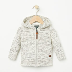 Roots-Gifts Baby Girl-Baby Polar Fox Cardigan-White Mix-A