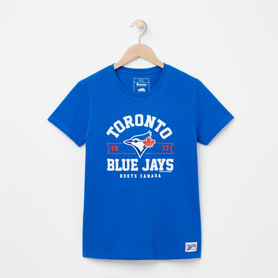 Roots-undefined-Womens Blue Jays Banner T-shirt-undefined-A