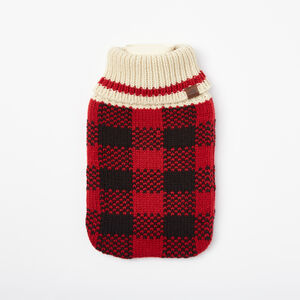 Roots-Women General Store-Buffalo Check Hot Water Bottle-Lodge Red-A