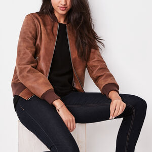 Roots-Women Leather Jackets-Women's Commander Jacket Tribe-Africa-A