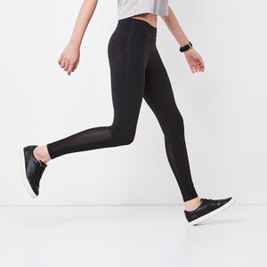 Roots-Women Leggings-Mesh Training Legging-Black-A