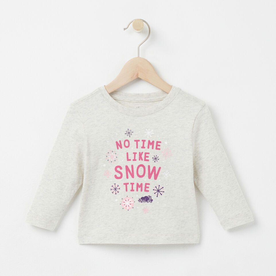 Roots-undefined-Baby Snow Time T-shirt-undefined-A