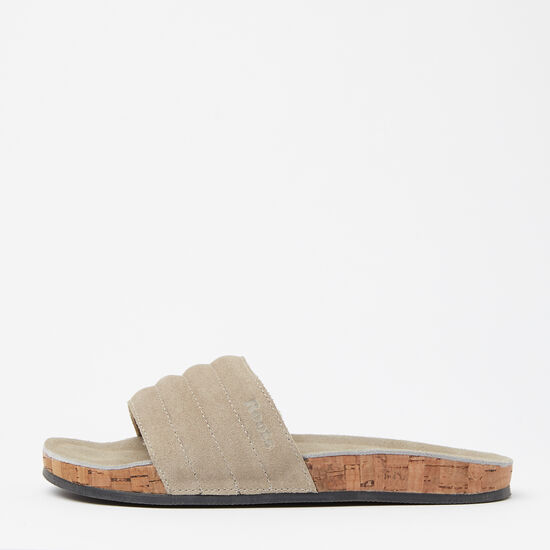 Womens Roots Slide Suede