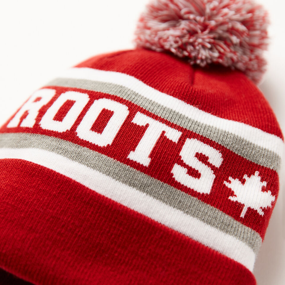 Roots-undefined-Kids Heritage Pom Pom Toque-undefined-D
