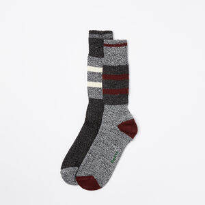 Roots-Hommes Chaussettes-Chsst Patinoire Hommes Pqt2-Cramoisi-A