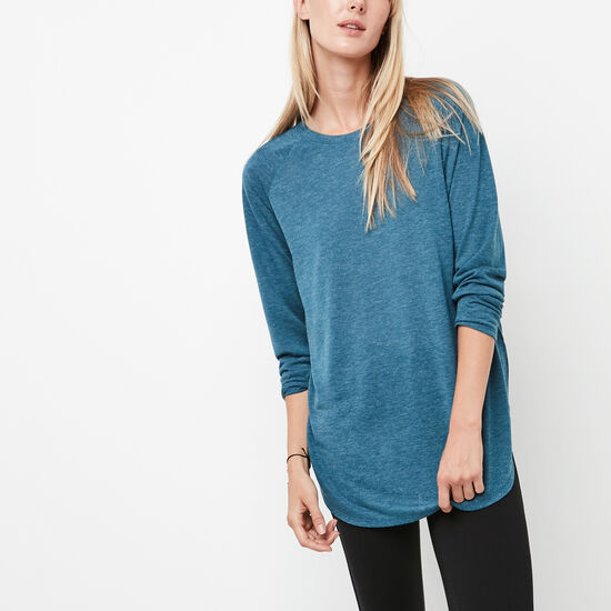Roots-Women Long Sleeve T-shirts-New Jules T-shirt-Blue Coral Mix-A