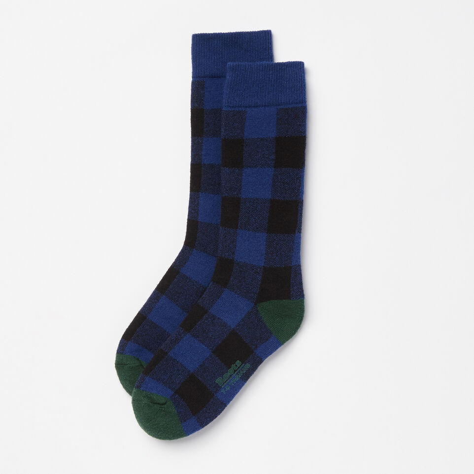 Roots-undefined-Kids Buffalo Check Boot Sock-undefined-A