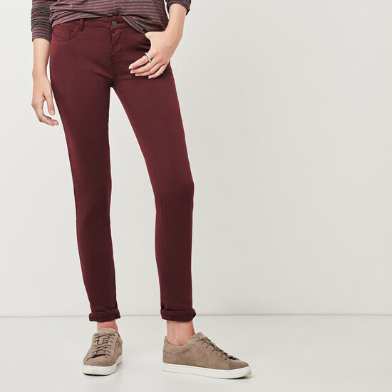 Roots-Women New Arrivals-Stretch Riley Pant-Crimson-A