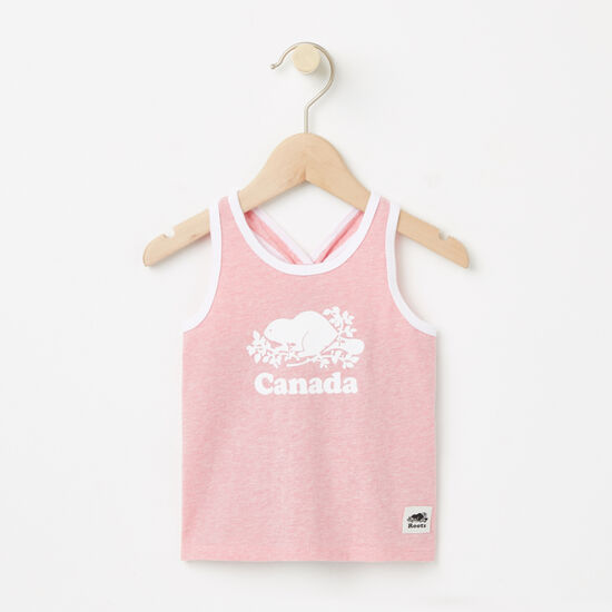 Roots-Enfants Collection Canada-Bébés Camisole Cooper Canada-Melange Rose Pivoine-A