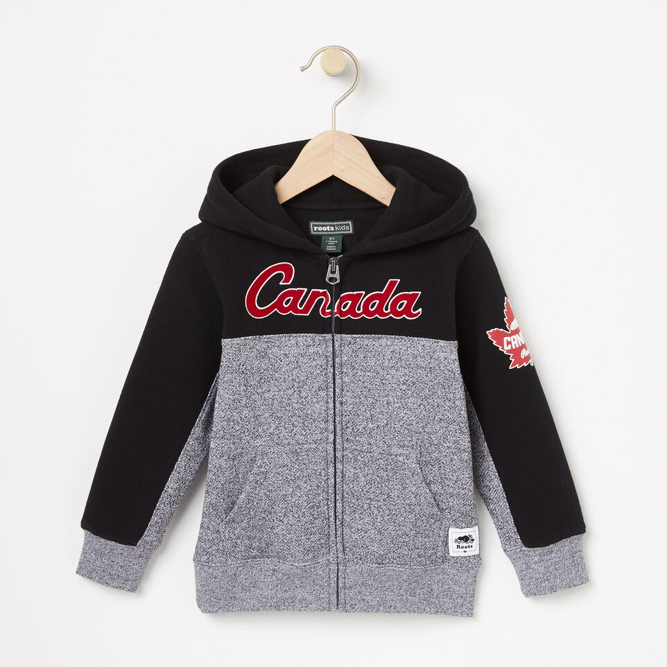 Roots-undefined-Toddler Heritage Script Full Zip Hoody-undefined-A
