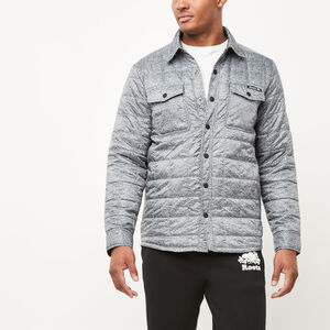 Roots-Men Jackets-Roots Quilted Shacket-Salt & Pepper-A