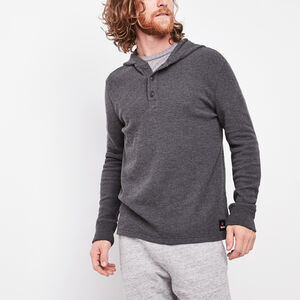 Roots-Sale Summit Sale-Oberon Waffle Hoody-Charcoal Mix-A