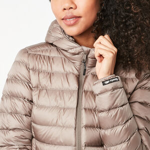 Roots-Women Jackets-Roots Zip Down Packable Jacket-Driftwood-A