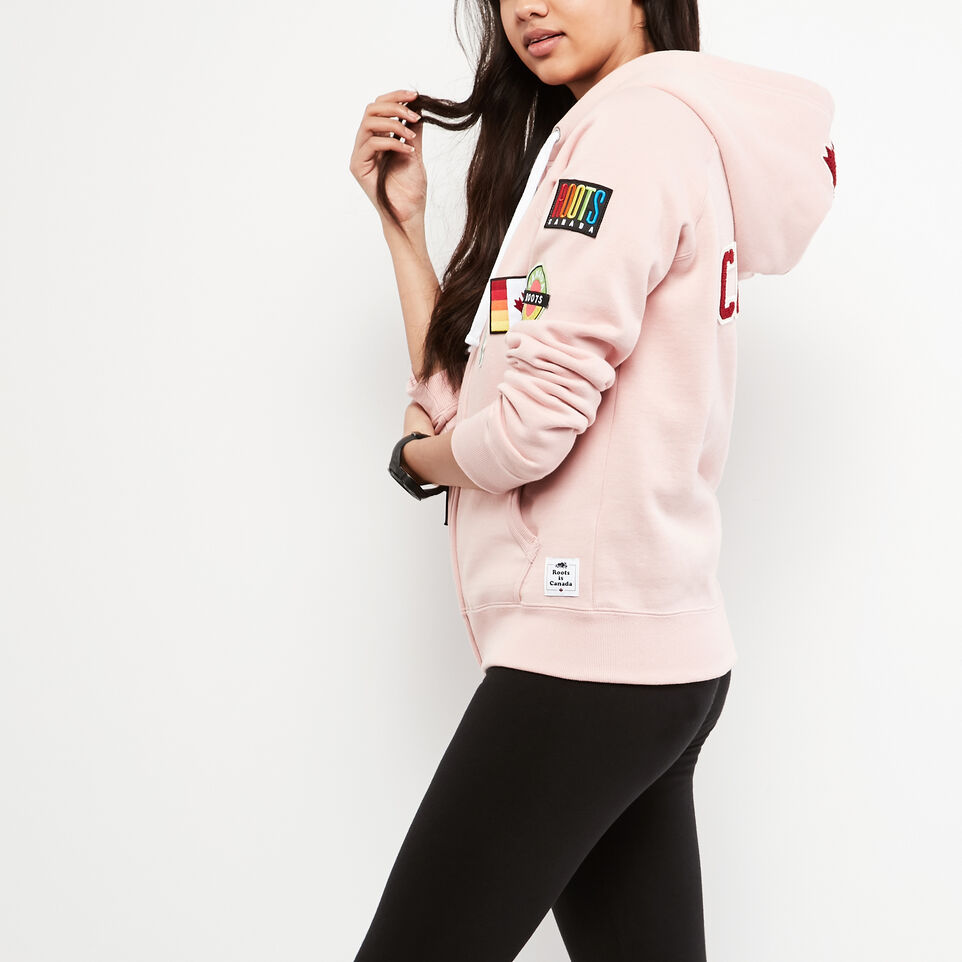Roots-undefined-Womens Patches Original Full Zip Hoody-undefined-B