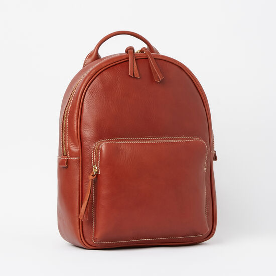 Roots-Leather Vegetable Tanned Leather-Chelsea Pack Veg-Oak-A