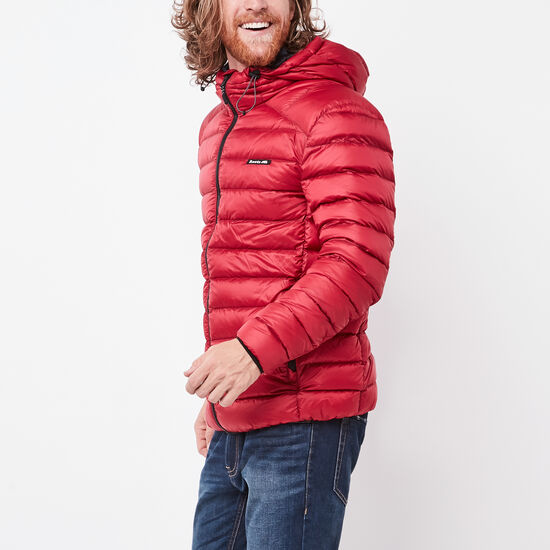 Roots-Men New Arrivals-Roots Packable Down Jacket-Lodge Red-A