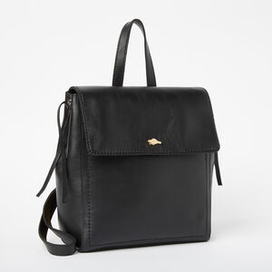 Roots-Leather Backpacks-Bella Pack Box-Black-A
