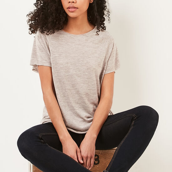 Roots-Women Features-Lia T-shirt-Natural Mix-A