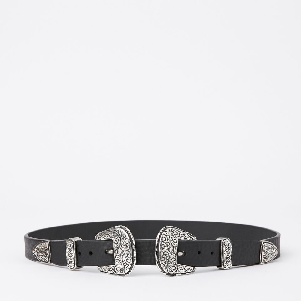 Roots-undefined-Double Western Buckle Belt-undefined-A