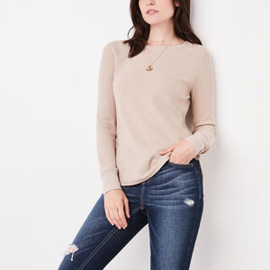 Roots-Women New Arrivals-Louise Top-Flaxseed Mix-A