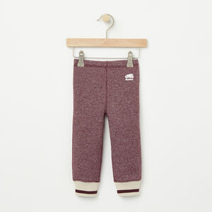 Roots-Kids Baby Girl-Baby Roots Cabin Cozy Fleece Legging-Cabernet Pepper-A