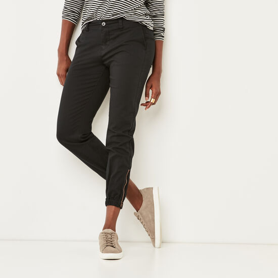 Roots-Women Pants-Galley Jogger-Black-A
