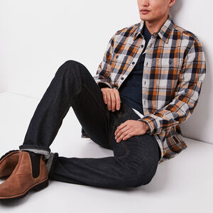 Roots-Men Shirts-Robson Heavy Weight Flannel Shirt-Grey Mix-A