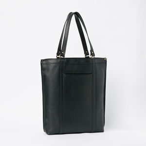 Roots-Leather Totes-Market Tote Box-Black-A