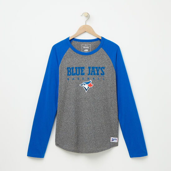 Roots-Men Tops-Mens Blue Jays Club Baseball T-shirt-Salt & Pepper-A