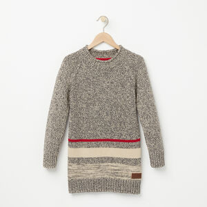 Roots-Kids Girls-Girls Roots Cabin Sweater Tunic-Grey Oat Mix-A