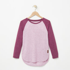 Roots-Kids Tops-Girls Jules Top-Dusty Orchid Mix-A